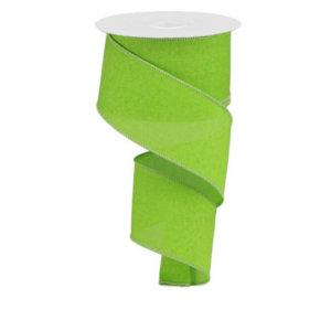lime green wired ribbon