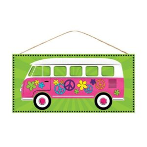 "12.5""L X 6""H Hippy Van Crossing Sign"