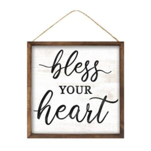 """10""""Sq Bless Your Heart Sign"""