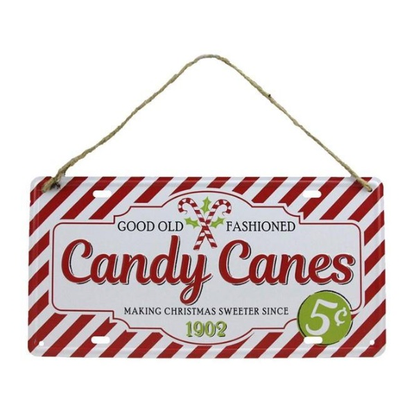 """12""""L X 6""""H Tin Candy Canes"""