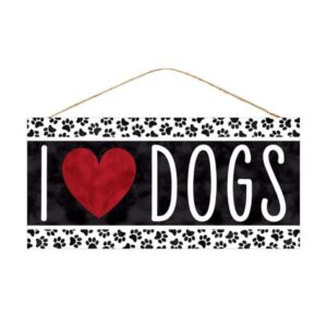 """12.5""""L X 6""""H I Heart Dogs Sign"""