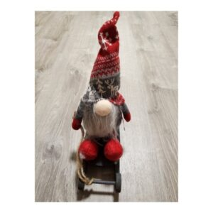 gnome on sled