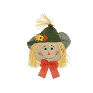 "BOY SCARECROW HEAD DOOR HANGER 29"" H x 16"" W"