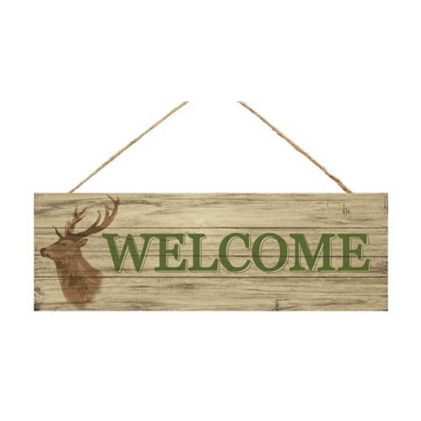 "15""L X 5""H Welcome Deer Sign"