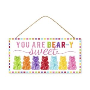 """12.5""""L X 6""""H You Are Bear-Y Sweet Glittered Sign"""