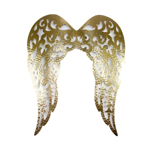 "24""H Gold Filigree Angel Wings"