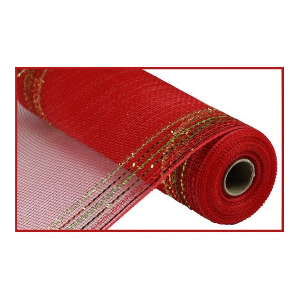 "10.5""X10yd Tinsel/Foil Wide Border Mesh"