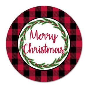 "12""Dia Merry Christmas/Buffalo Plaid"